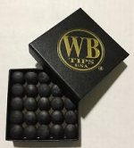 WB Water Buffalo Cue Tips Pool Buffalo Leather Tips VERY HARD 14mm