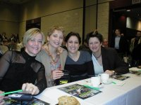 Lady Pros at IPT Players Meeting at KOTH Shootout.JPG